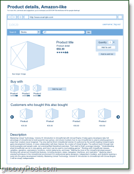 a groovy wireframe build in google docs