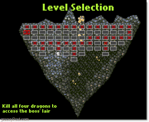 Great Dungeon In The Sky level selection