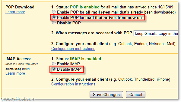 Connect Gmail to Outlook 2010 using POP