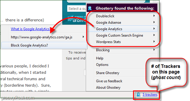 easily block trackers from following you on web sites