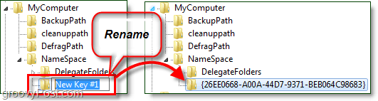 rename a registry key in windows 7