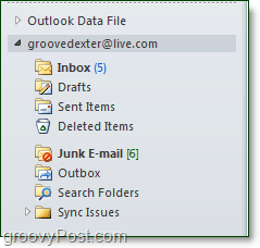 your live or hotmail account added to outlook via connector