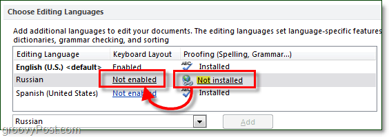 enable spell checking and keyboard layouts for ore languages in office 2010