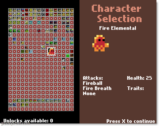Great Dungeon In The Sky character selection