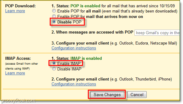 Connect Gmail to Outlook 2010 Using IMAP
