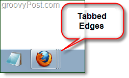 fanned or tabbed edges on firefox icon in taskbar