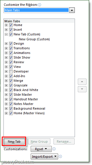 add tab to ribbon in office 2010