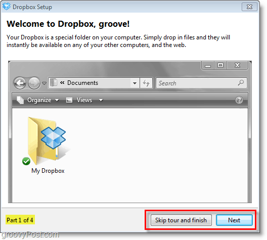 "Dropbox screenshot - skip the ""tour""torial"