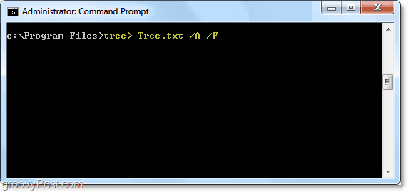 using the tree command in windows 7