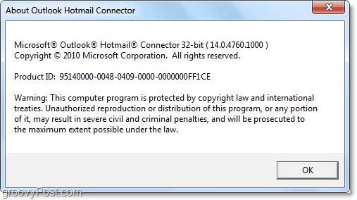 Outlook hotmail connector 2007