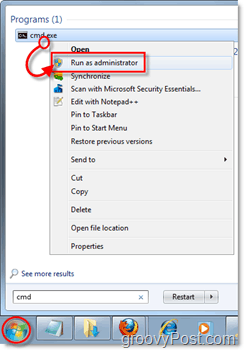 open command prompt in administrator mode