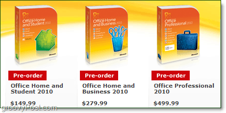 office 2010 prices