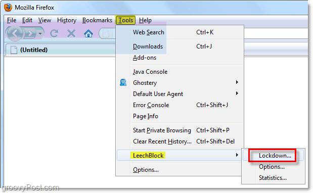 how to use lockdown mode in leechblock