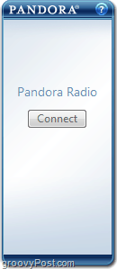 connect button to start pandora gadget windows 7