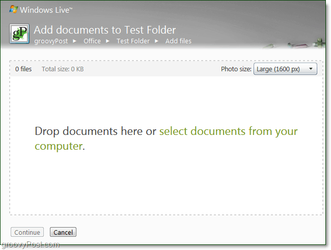 drag and drop office documents to your group folder