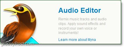 myna the audio editor from aviary