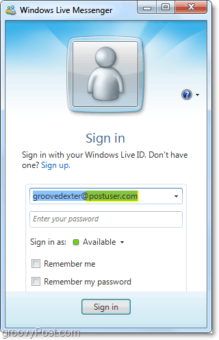 windows live messenger can be used with your domain account if you set it up