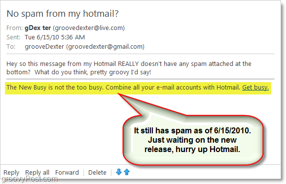 hotmail announced to remove email ads