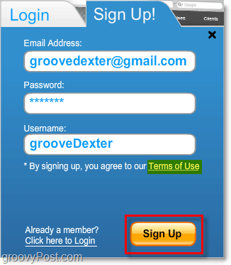 sign up for a free wix account
