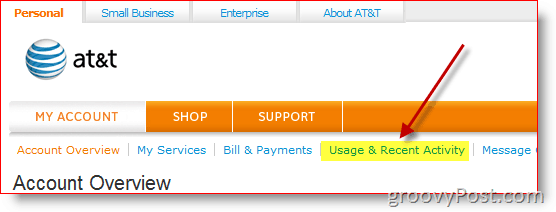 AT&T Wireless Usage and Recent Activity Report