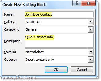 manage autotext entry properties