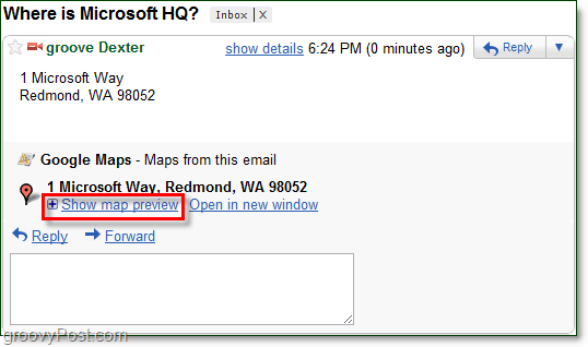 show map previews in gmail