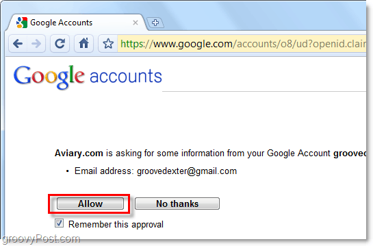 link aviary account to google gmail account