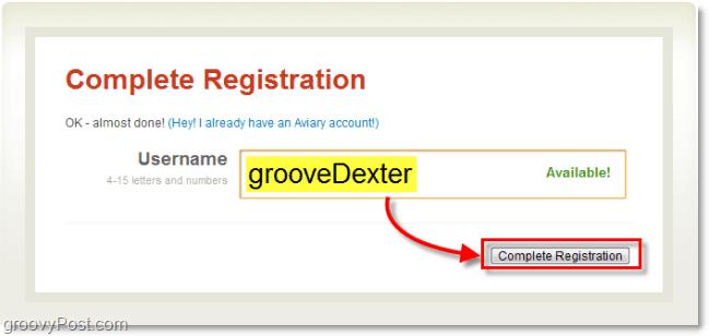 create an aviary username