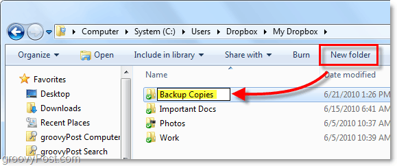create backup copies in your dropbox folder