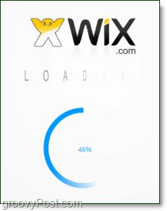 the wix flash website eidtor can take a moment to load