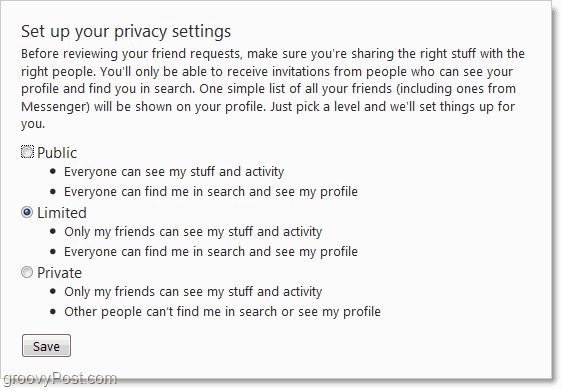set up privacy for office online groups