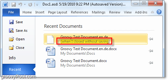 recover files that werent saved