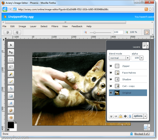 the aviary phoenix web app lets you do stuff photoshop like on the web