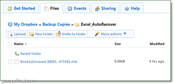 dropbox archives your office files