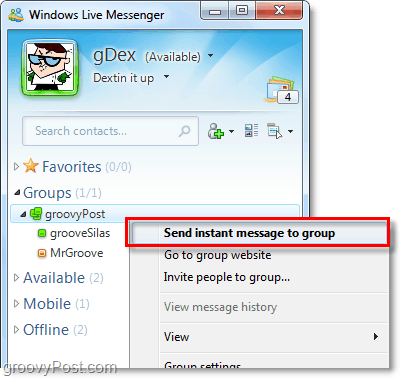instant message groups of people