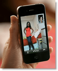 Apple FaceTime on iPhone 4