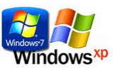 Windows Xp and Windows 7 Logos