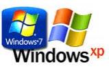 Windows Xp and Windows 7 Logos