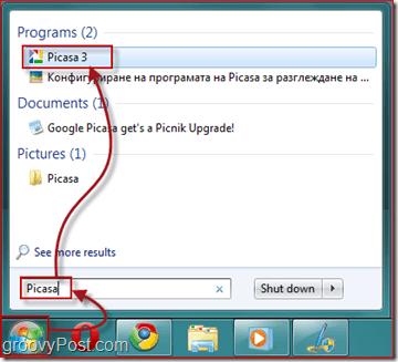 Launching Picasa