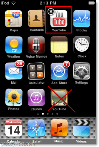 replace youtube app on iphone with html5