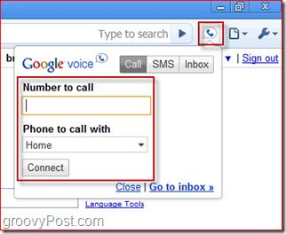 Screenshot Google Voice