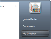 Groovy how to - dropbox on the start mennu