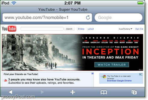 youtube mobile not mobile as a desktop version