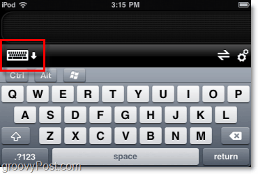 use software keyboard on iphone for computer