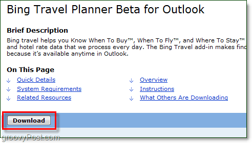 bing travel planner download link