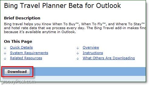 bing travel planner download link