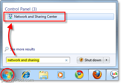 network and sharing center in windows 7