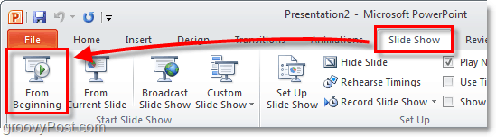 how to start a powerpoint presentation