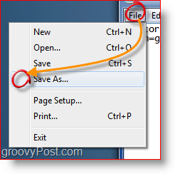 Saving A File In Notepad