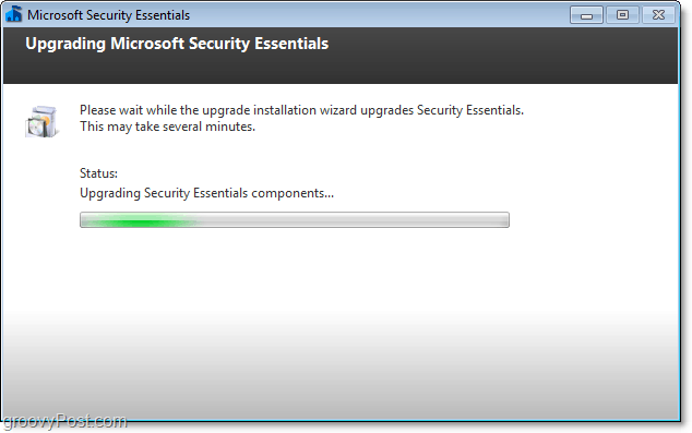 upgrade process microsoft security essentials 2.0 beta